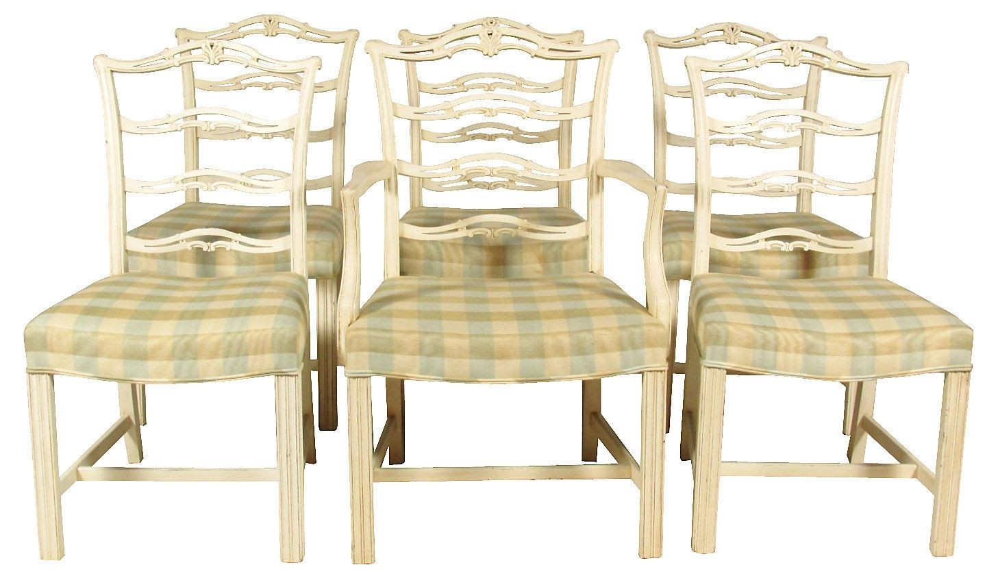 Chippendale Dining Chairs, Set/6