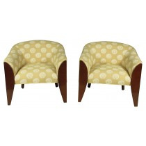 Art Deco Club Chairs, Pair
