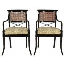19th-C. Regency Arm Chairs