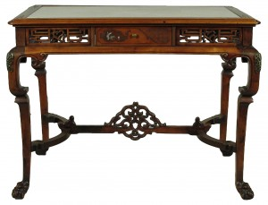19th-C. English Chinoiserie Writing Table